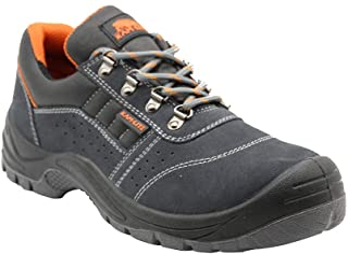 Zapatos de Seguridad para Hombres, S1P, Zapatos con Punta de Acero, Zapatos de Trabajo Antideslizantes, Antideslizantes, Z...