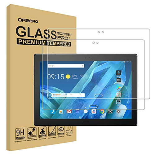(2 Pack) Orzero for Lenovo Moto Tab (AT&T), Lenovo X704, TB-X704A Tempered Glass Screen Protector, 9 Hardness HD Anti-Scratch Bubble Free (Lifetime Replacement)