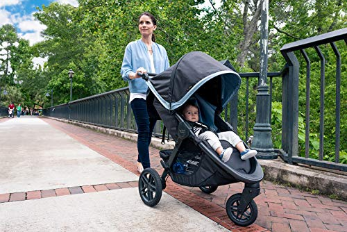 Image of Britax B-Free Stroller, Midnight | All Terrain Tires + Adjustable Handlebar + Extra Storage with Front Access + One Hand, Easy Fold