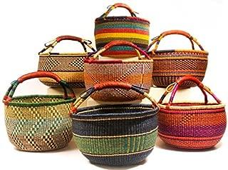Hands Craft Medium Bolga African Bolga Basket Fair Trade Ghana Baskets Toys Egg Baskets (Colors Vary) … (11