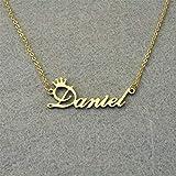 Collar con nombre personalizable chic, collar personalizado, nombre personalizado, regalo personalizado para ella color oro rosa NN-chinoH-XX 40 cm