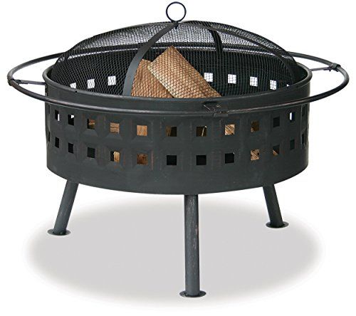 Endless Summer, WAD997SP, Aged Bronze Outdoor Firebowl with Lattice Design