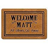 Msimplism.D Doormat Home Decor Funny Doormat Welcome Matt All Others Go Away Monogram Doormat Indoor Outdoor Rubber Welcome Mat Non-Slip Backing Entry Way Doormat 23.6 x 15.7 Inch