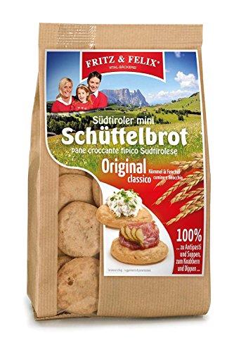 Mini Bauern Schüttelbrot mit Kümmel & Fenchel 10 x 125 gr. - Fritz & Felix