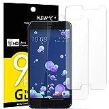 NEW'C Lot de 2, Verre Trempé pour HTC U11, Film Protection écran - Anti Rayures - sans Bulles...