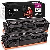 LEMERO UEXPECT Cartucho de tóner compatible 203X 203A HP CF540X para HP Color Laserjet Pro MFP M281fdw M281fdn M281cdw M280nw M254nw M254dw M254dn (2 )