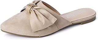 Mules Women Shoes w Pointed Toe and Elegant Bowknot