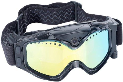 Somikon Skibrille mit Kamera: Premium Skibrille mit integrierter HD-Action-Cam (Brillencamera)