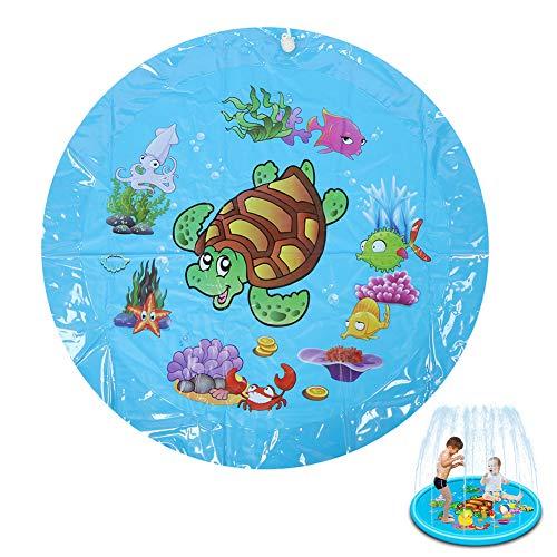 Keen so Water Spray Mat Sprinkler Pad, Inflatable Water Spray Mat Splashing Play Mat Niños Summer Outdoor Sprinkler Game Play Mat Toy