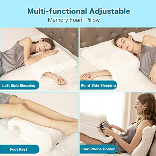 HOMCA Memory Foam Pillow for Couples, Adjustable Cube Cuddle Pillow Anti Pressure Arm Pillow for Back Sleepeer and Side Sleepers