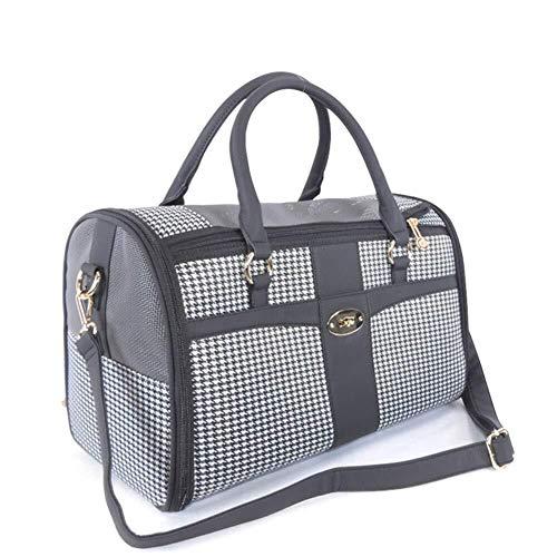 DKEE Cama de Perro Bolso De Hombro Plegable Portátil Transpirable For Mascotas Bolso De Moda For Mascotas Gato con Bolsa De Viaje 1.1 Kg, 34 * 22 * 20 Cm