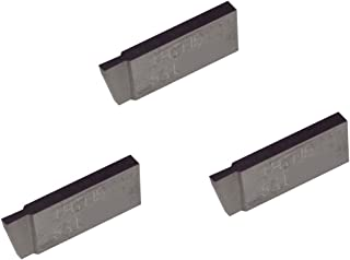 Grooving Insert for Non-Ferrous Alloys Uncoated Carbide Aluminium and Plastic Without Interrupted Cuts THINBIT 3 Pack LGT030D5LFR 0.030 Width 0.090 Depth Full Radius
