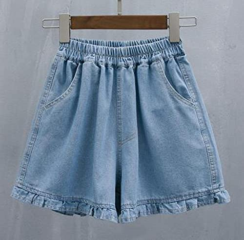Pantaloncini per Donnas Denim Shorts for Women Summer Jeans Wide Leg Shorts Female Casual Loose Shorts Blue XXXL Blue