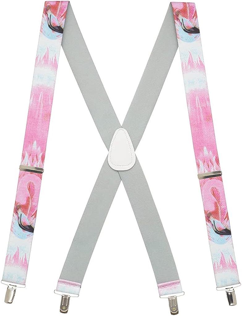 SuspenderStore Men's Flamingo Suspenders