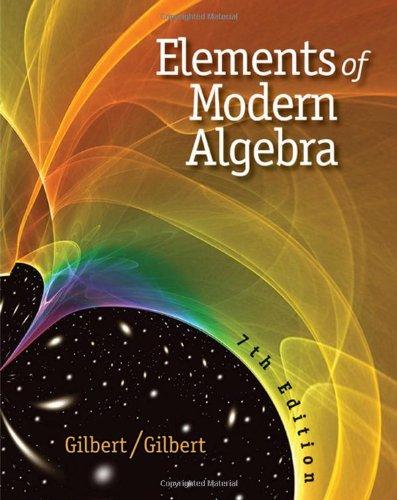 Elements of Modern Algebra