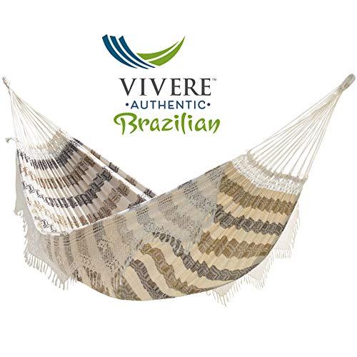Vivere Authentic Brazilian Luxury Double Hammock (450 lb Capacity) (Costa)