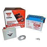 Yuasa YB4L-B(CP) Batterie de Moto avec Acide Pack, 121x71x93 mm, 12 V