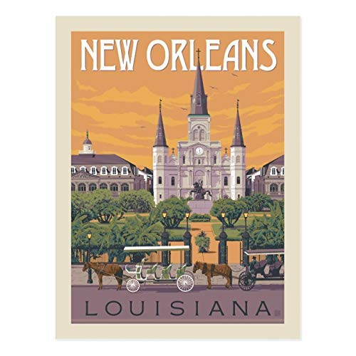Balter New Orleans Louisiana Metal Retro Tin Sign Antique Plaque Poster Living Room Bar Pub Home Classic Vintage Aluminum for Wall Decor 8x12 Inch