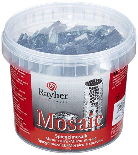 Rayher 1453600 Teselas espejo, 1,5x1,5 cm, 1 kg, para manualidades y mosaicos