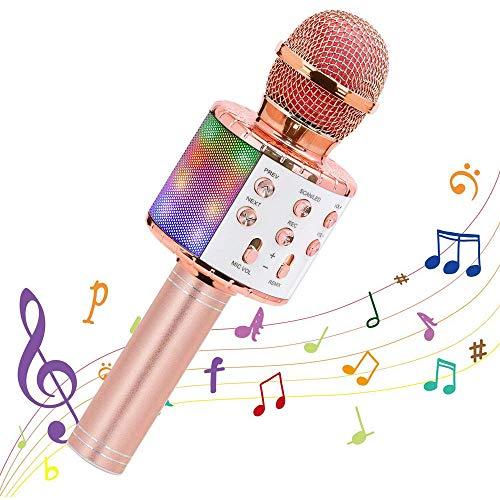 Draagbare draadloze bluetooth auto karaoke microfoon dual sing kinderen karaoke-machine voor thuisfeest draagbare handheld karaoke microfoon luidspreker, voor kerst, verjaardag, thuisfeest