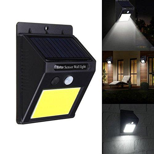 Bazaar Solar Power 48 LED PIR Détecteur de mouvement Applique murale étanche pour extérieur