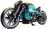 Tecnología de bloques de construcción de motocicleta, kit de 431 piezas de modelos de motocicleta estático compatible con la tecnología Lego (versión 2)