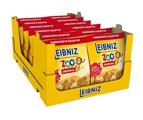 Leibniz Zoo Original - 12er Pack- Mini-Butterkekse in lustigen Tier-Motiven für Kinder - Ohne Palmöl (12 x 125g)