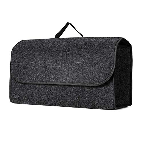 XIAOYING Auto-Kofferraum Aufbewahrungstasche Weicher Filz Aufbewahrungsbox Gepäcktasche Autowerkzeugkasten Multifunktionswerkzeugaufbewahrung Tasche Teppich Folding Notfall Box