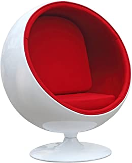 Fine Mod FineMod Imports Kids Space Chair, Red