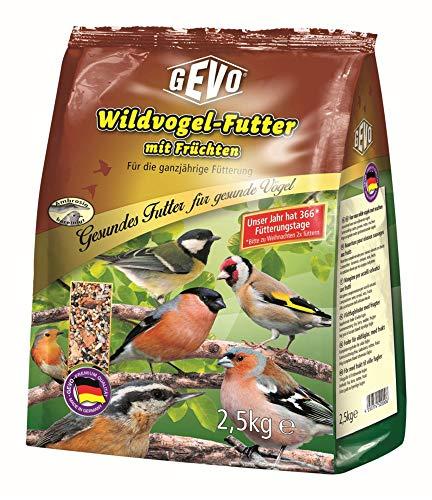 GEVO Wildvogelfutter mit Früchten 1 kg Extra fein Größe 1 x 2,5kg