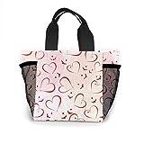 Bolsa de almuerzo portátil para el día de San Valentín para mujer, bolsa térmica aislada, a prueba de fugas, caja para la escuela, trabajo o picnic
