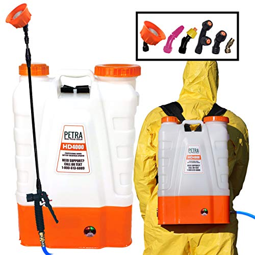 PetraTools 4 Gallon Battery Powered Backpack Sprayer –...