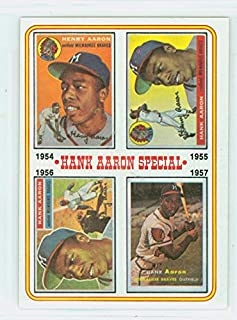 1974 Topps Baseball 2 Hank Aaron 1954-1957 Excellent to Mint