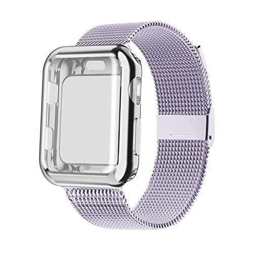 Adecuado para IWatch Series 6 5 4 3 2 1 Relojes Plus TPU Semifullinclusive carcasa de galvanoplastia de Apple Watch es compatible con 38/40/42/44mm Unisex correa de repuesto