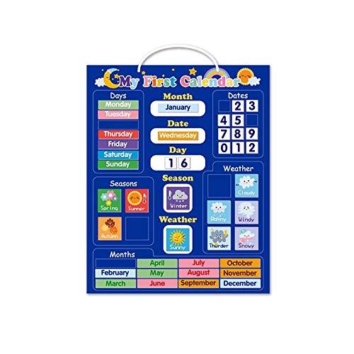 RONGXIANMA Tabla de recompensas Calendario meteorológico Tablero magnético Desarrollo Cerebral Completo de Juguetes Inteligentes para niños