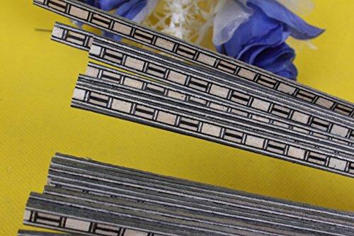 Yinfente 20 tiras de guitarra con incrustaciones de Luthier Figured Purfling piezas de guitarra cuerpo encuadernación de madera incrustada 640 x 6 x 1,0 mm #63