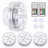 LOFTEK Submersible LED Lights with Remote RF(164ft), IP68 Full...