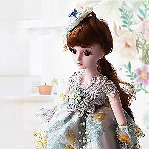 ZNDDB Reborn Baby Puppe Mädchen Spielzeug Geschenk, kann Kleidung/hohe Simulation Haar / 3D Augen/Perücke abnehmbar ändern