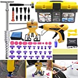 Anyyion Paintless Dent Repair Kits - 69pcs Car Body Paintless Dent Repair Tools -Auto Dent Puller Kit Automotive Door Ding Dent Silde Hammer Glue Puller Repair (Starter Set Kits)