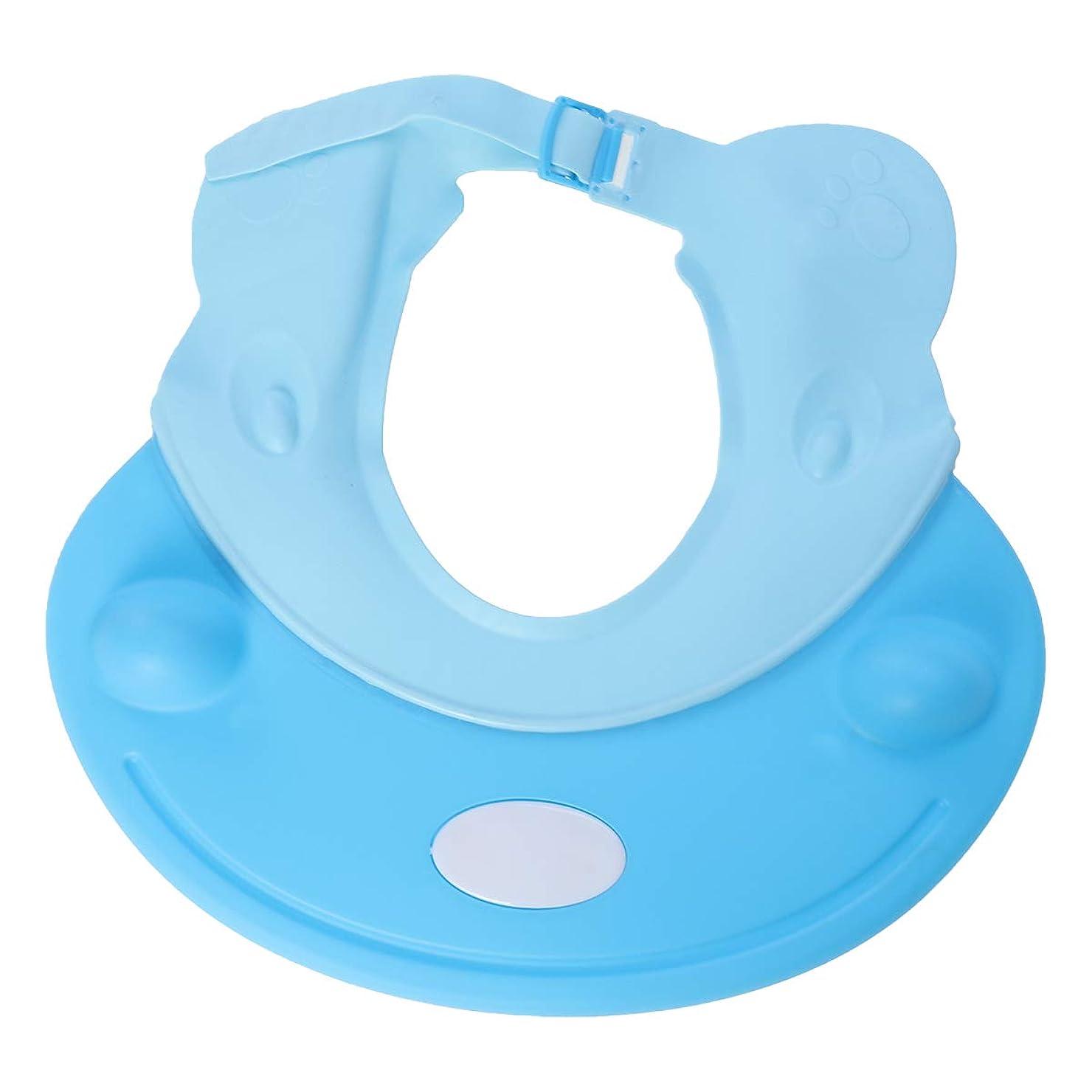 フォローストレージケーキSUPVOX ベビーシャワーキャップシャンプー入浴保護帽子カバ形ソフトアジャスタブルバイザーキャップ用幼児子供用ベビーキッズ(ブルー)