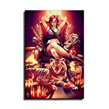 Lara Croft Tomb Raider Poster, Wandkunst, Bild, Druck,