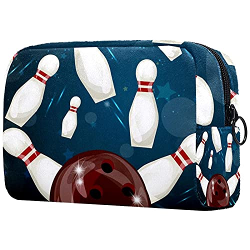 fx bowling bags Bowling Ball Crashing Makeup Bags Portable Tote Cosmetics Bag Travel Cosmetic Organizer Toiletry Bag Make-up Cases for Women
