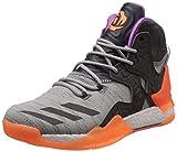 adidas Herren D Rose 7 Primeknit Basketballschuhe, Grau (anthrazit/grau anthrazit/grau), 47 1/3 EU