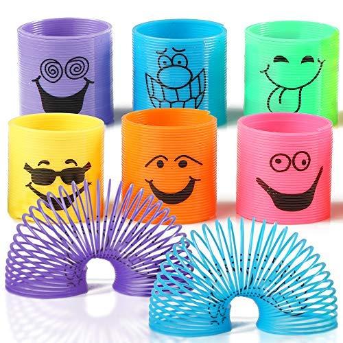 THE TWIDDLERS 96 Mini Spirale Magic Springs für Kinder - Mitgebsel Kindergeburtstag Gastgeschenke Regenbogenspirale, Kindergeburtstag Lernspielzeug