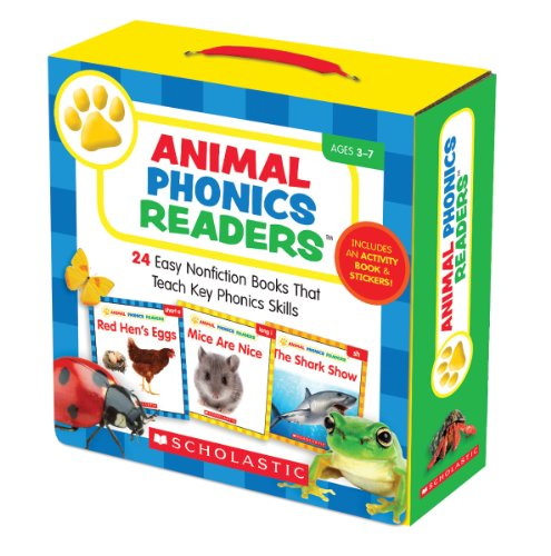 Animal Phonics Readers Parent Pack: 24 Easy Nonfiction Books That Teach Key Phonics Skills