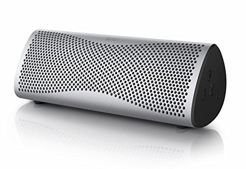 KEF MUO - Bester Bluetooth Lautsprecher -  Schwarz |  Tragbarer Lautrsprecher für unterwegs  | Außenlautsprecher | Best bluetooth speaker für PC und Laptop | mit langer Batterie und Akkulaufzeit