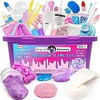 Original Stationery Slime Kit Unicornio Completo - Todo en una caja para que los niños y niñas hagan Slime - Suplementos...
