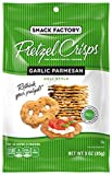 BOLD CHEESE FLAVOR: Thin, crunchy pretzel crackers, baked with savory garlic and Parmesan flavors TASTY TREAT: Great on their own or paired with hummus, dips and spreads RECIPE IDEA: Top with mozzarella cheese, tomato and basil for a tasty bruschetta...