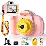 Peradix Kinderkamera Digital Kamera Mini Kamera Geschenke 2 Zoll HD-Bildschirm 1080P mit 32 GB TF-Karte USB Ladekabel Multifunktional Videokamera Geburtstag Geschenke Spielzeug