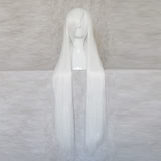 Yowane Haku VOCALOID White 100CM Long Cosplay Costume Wig + Free Wig Cap
